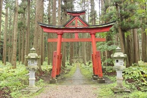 十三湊日吉ノ神社(中世津軽) 鳥居